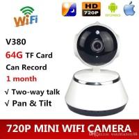 Ip Camera Cctv V380 Smart Wifi Kamera 720P Cam HD Pengintai Mic