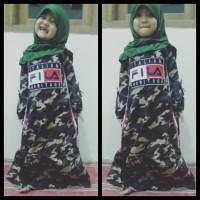 Hot List Baju Gamis Muslim Army Loreng Fila Anak Cewe Terbaru Katun
