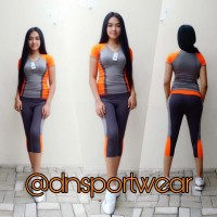 stelan baju senam aerobik wanita