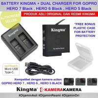 Baterei KingMa for GoPro Hero 7 / 6 / 5 Black Ori +Charger +BATT CASE