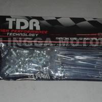 TDR Jari- Jari Roda Sepeda Motor Ukuran 9 x 89 - Chrome Silver