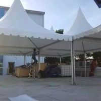 Tenda Sarnavil 5x5 m Rangka Almunium Ekstrud Bahan Atap Uno German