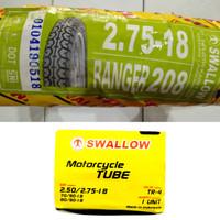 Ban Motor Swallow 2.75-18 Ranger Classic Japstyle S-208 dan Ban Dalam