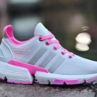 Sepatu Sneakers Wanita Adidas POD SE Abu Pink Casual Sport Import