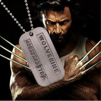 Kalung tentara Wolverine Logan X-MEN dog tag army necklace murah impor