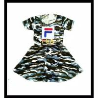 Ready stok dress baju fila army sabrina army baju abri anak