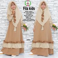 Baju muslim/gamis anak perempuan FILA KIDS