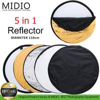 Reflektor 5 in 1 Ukuran Diameter 110cm Studio Foto