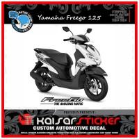 DECAL STICKER MOTOR YAMAHA FREEGO 125 FULL BODY STRIP PUTIH