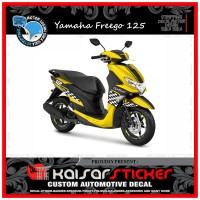 DECAL STICKER MOTOR YAMAHA FREEGO 125 FULL BODY KUNING