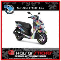 DECAL STICKER MOTOR YAMAHA FREEGO 125 FULL BODY COLORS