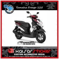 DECAL STICKER MOTOR YAMAHA FREEGO 125 FULL BODY GRAFIS MERAH
