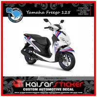 DECAL STICKER MOTOR YAMAHA FREEGO 125 FULL BODY GRAFIS PUTIH 1