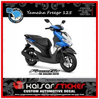 DECAL STICKER MOTOR YAMAHA FREEGO 125 FULL BODY GRAFIS BIRU