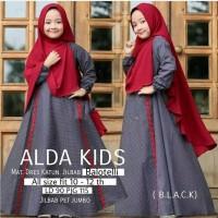 Alda kids / baju muslim gamis anak perempuan usia 10-12 tahun