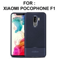 Case Xiaomi Pocophone F1 softcase casing hp back cover LEATHER ARMOR