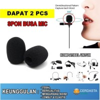 Spon Busa mic clip on headset 3cm microphone condenser