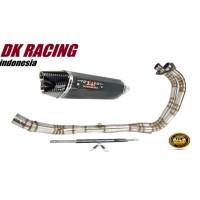 Knalpot Racing Honda CBR 250 RR Yoshimura R77 Carbon 2 hole Fullsystem