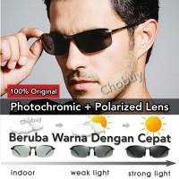Original Kacamata Polarized Siang & Malam Polaroid Photochromic Sport