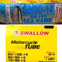 Ban Motor Swallow 60/90-14 dan Ban Dalam Swallow Sea Hawk SB115 Murah
