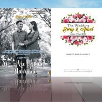 Undangan Pernikahan UND-AS-001 GRATIS:Plastik, KUT, Label Kosong,