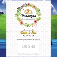 Undangan Pernikahan UND-043 GRATIS:Plastik, Label,KUT, +7 Und,Denah