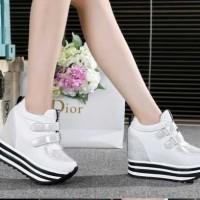 Hot PROMO! Sepatu Wanita Sneakers Wedges Kets Tebal Tinggi Bagus Murah