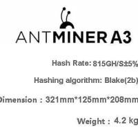 Berkualitas Antminer A3 Blake2B + Sia Bitmain Ready Stock !! Fresh Dhl