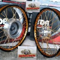 Sepaket velg TDR 2tone ring 17 Beat scoopy Vario 110 vario 125-150 Sp