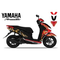 DECAL STICKER MOTOR YAMAHA FREEGO WAYANG EDITIONS