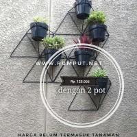 Geometric Standing Planter - Rak Pot Tanaman - Pot Dinding Pot Bunga