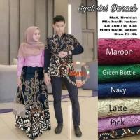 Couple Gamis Batik Mix Brokat Baju Batik Couple Keluarga 02 Terbaru