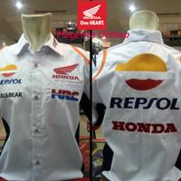 Baju Kemeja MotoGP Honda Repsol PitCrew Putih 2019