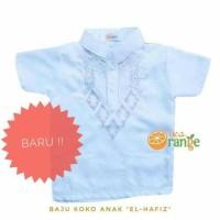 HOT SALE Baju Koko Anak Balita Lengan Pendek Bordir Putih (1- 7 tahun)