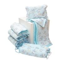 Standard Bumper Set / beruang biru / sprei baby box / set bumper bayi