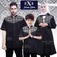 Baju Koko Muslim Paket Lebaran Keluarga - Ayah Anak Ibu Hitam