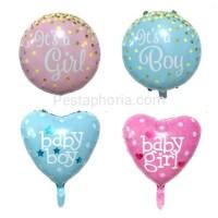 Balon Foil Baby Shower It's A Girl / It's A Boy / Baby Girl / Baby Boy