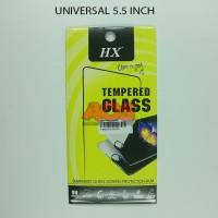 TEMPERED GLASS ANTI GORES CRACK TG UNIVERSAL SEMUA TYPE 5.5 INCH