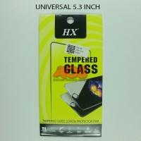 TEMPERED GLASS ANTI GORES CRACK TG UNIVERSAL SEMUA TYPE 5.3 INCH