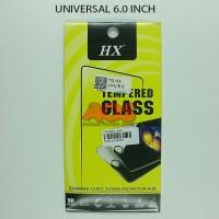 TEMPERED GLASS ANTI GORES CRACK TG UNIVERSAL SEMUA TYPE 6.0 INCH