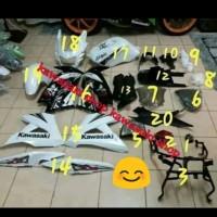 fairing body sayap full set ninja rr new putih 2013 special edition