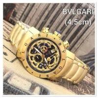 Jam Tangan Pria BVLGARI Diagono 3003 Gold Black Premium