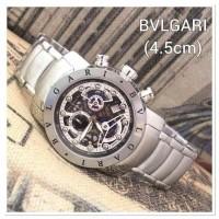 Jam Tangan Pria BVLGARI Diagono 3003 Silver Black Premium
