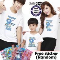 Kaos Keluarga ULANG TAHUN - ULTAH /Baju Family (2 dewasa dan 1 anak)