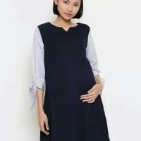 dress baju kerja ibu hamil