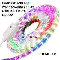 Lampu LED STRIP SELANG 3528 2835 10M 220v 10 M METER 5050 OUTDOOR RGB