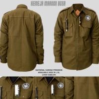 Kemeja BGSR / kemeja pria / baju kemeja pria / jaket parka pria - Abu-abu, L