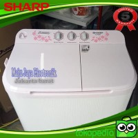 Mesin Cuci 2 Tabung Sharp 90 MW Cuci dan Kering Low Watt 9KG