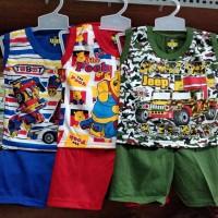 Kaos baju setelan tanktop singlet anak bayi laki perempuan murah