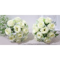 1 SET ISI 2 bunga plastik hias artificial hand bouquet BABY BREATH C1